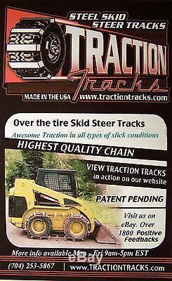 Skid Steer Tracks 10x16.5 tires Steel Loader for Bobcat New Holland Cat traction