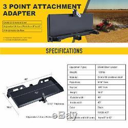 Steel 47 3-Point Attachment Adapter Heavy-Duty for Bobcat Kubota Skid Steer