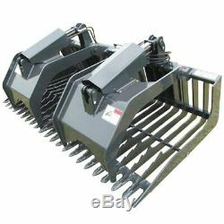 Stout Skid Steer Rock Grapple Bucket (Open End) 72 Width